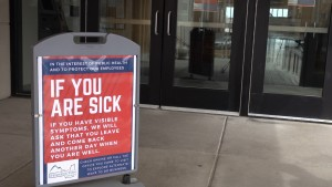 If You Are Sick sign.