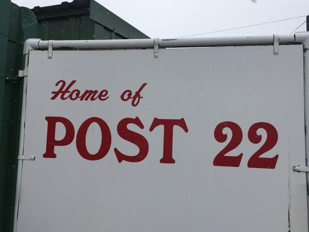 Post 22 Sign