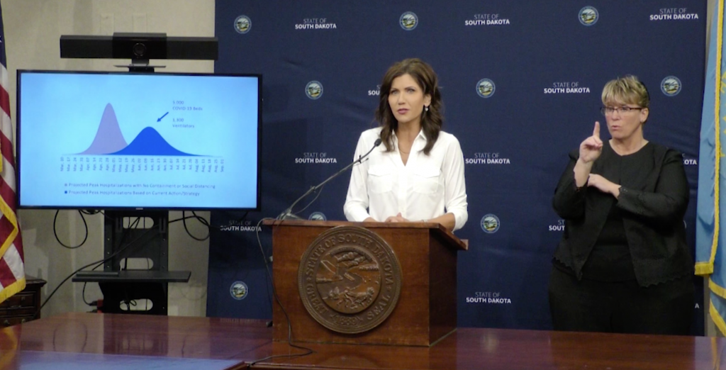 Gov. Noem on projections.