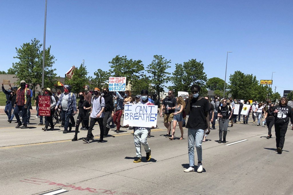 Minneapolis Police Death Protest North Dakota