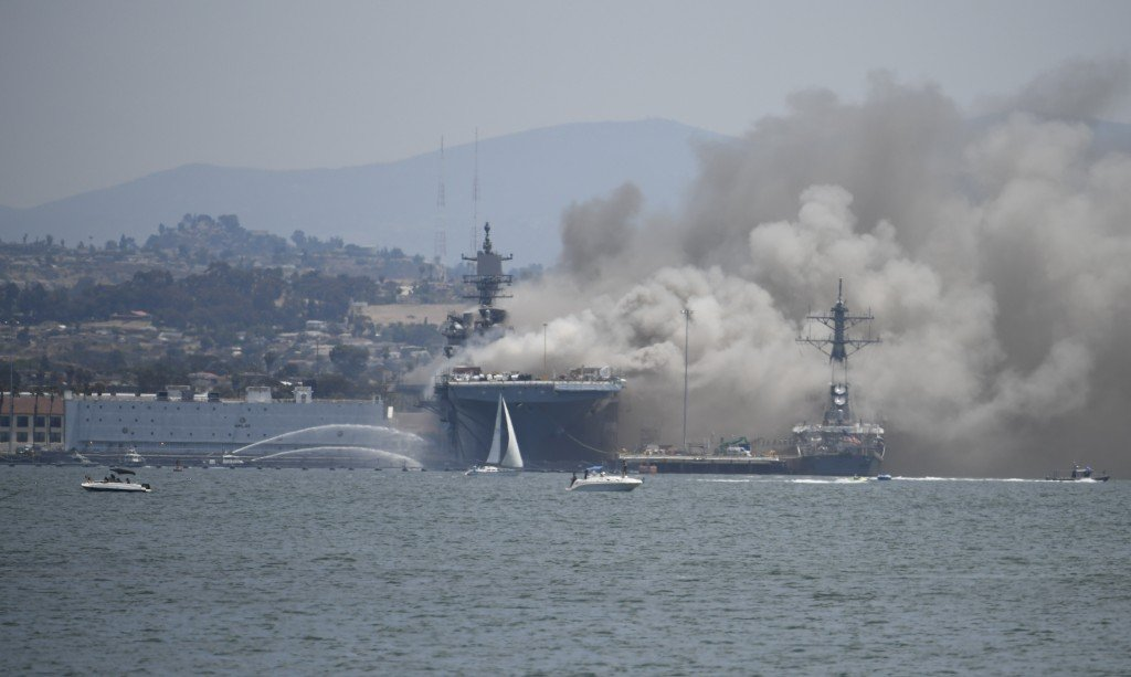 Navy Ship Fire