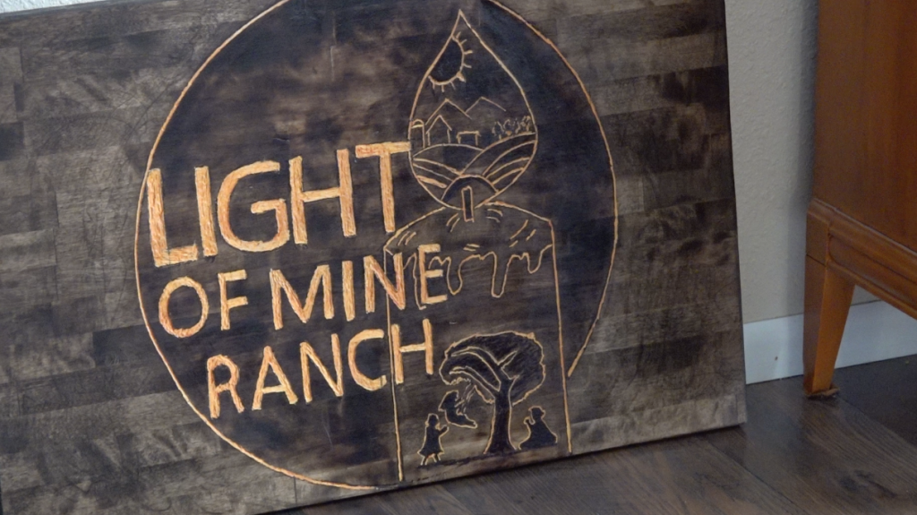 Light of Mine Ranch sign