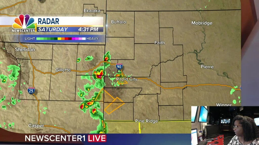 Watch: Severe Thunderstorms Firing Off In The Black Hills Region. Meteorologist Dominique Smith Has The Latest.