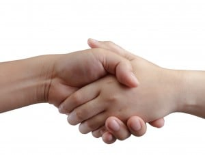 Shaking Hands People