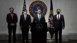 Watch: Fbi Holds Press Conference Regarding 2020 Election Security
