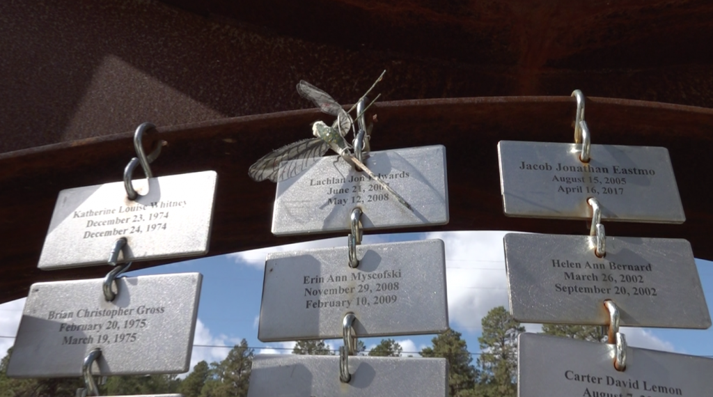Lachlan's name plate at Memorial Garden