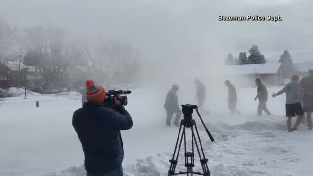 Watch: Bozeman Pd Takes A Polar Plunge For The Special Olympics
