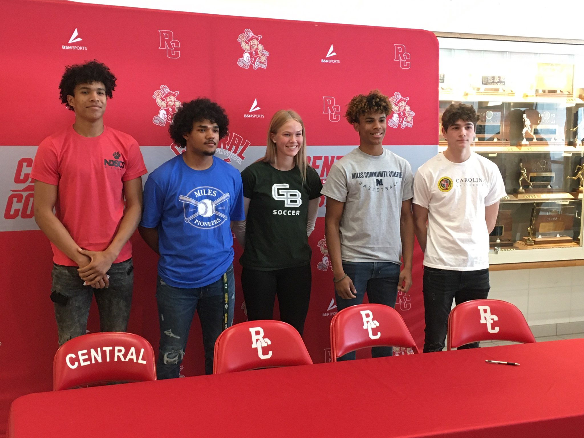 Five more RC Central student-athletes sign on the dotted line - KNBN NewsCenter1