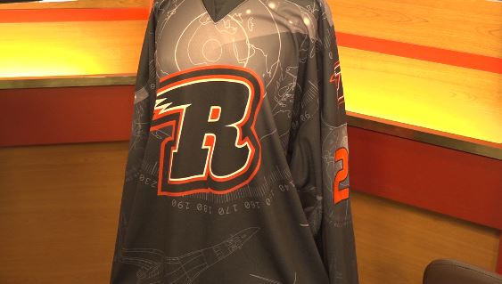 """The official 2021 Rapid City Rush """"Military Appreciation Weekend"""" jersey"""