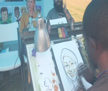 Cwu Central States Fair Caricatures