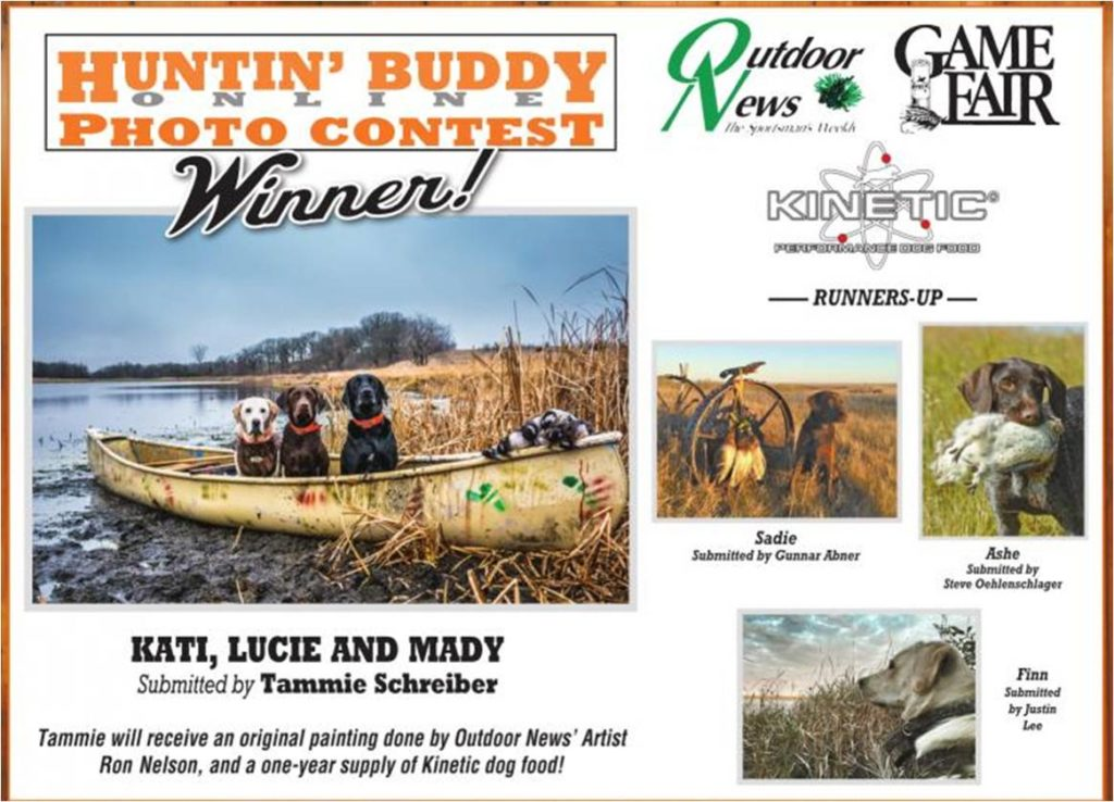 2016 Huntin Buddy Contest Winning Photo submitted by Tammie Schrieber