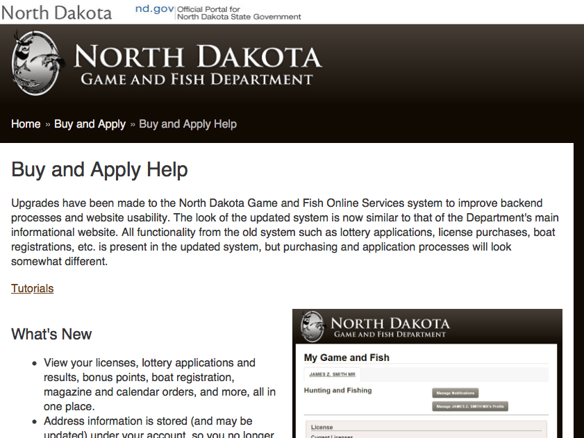 in north dakota, time for new licenses — and new-look online