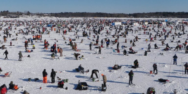 Large ice fishing tournament a go this weekend outdoornews for Ice fishing tournament