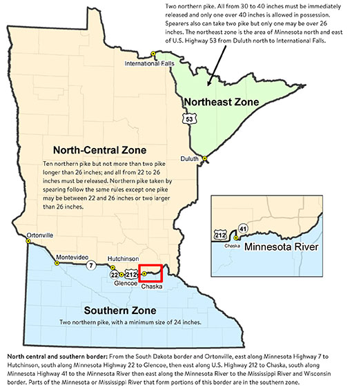 Dnr even with new pike zone rules special regs still for Mn dnr fishing regulations