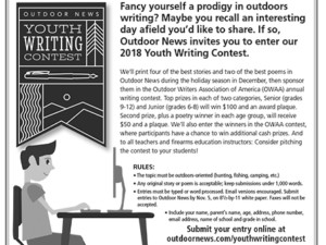 Outdoor News offers annual contest for youth writers
