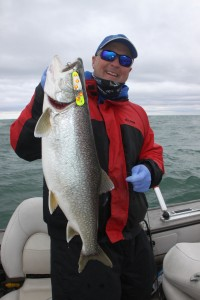 Frank Campbell With Lake Trout Copy