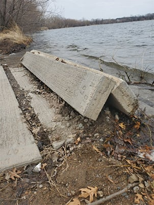 Boat Ramp Damage Eagle Lake Original Copy