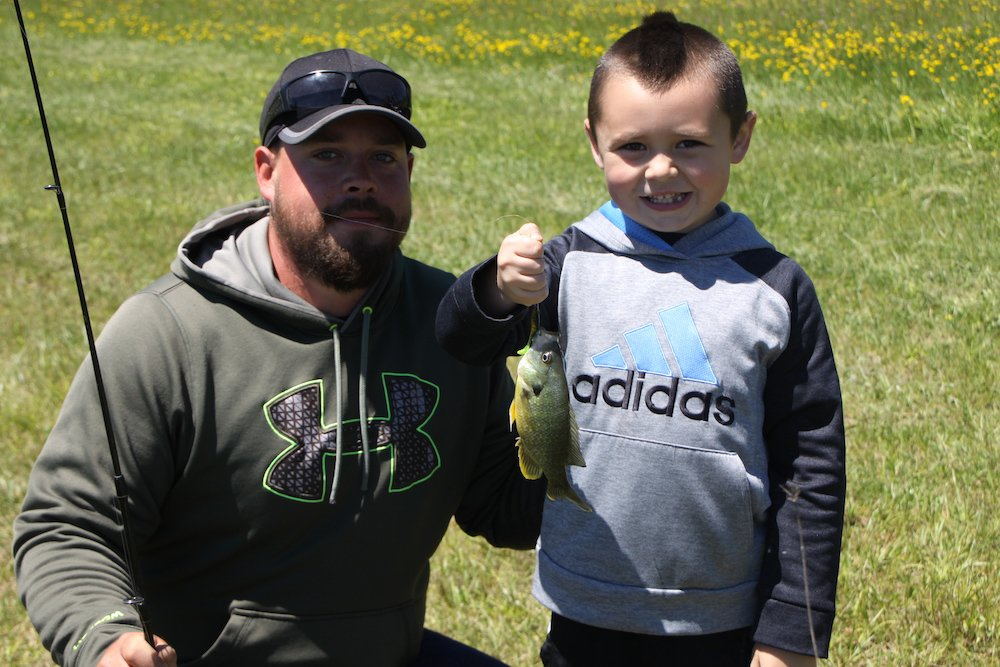 Parker Costello With His Father Kyle