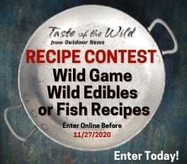 Outdoor News Taste of the Wild 2020 Recipe Contest