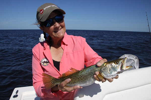 Shelley Crant With Sea Trout