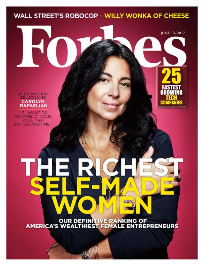 Alex and anis carolyn rafaelian is on the cover of forbes carolyn rafaelian is on the cover of forbes magazine shes been dubbed the bangle billionaire and is listed as one of the richest self made women madrichimfo Image collections