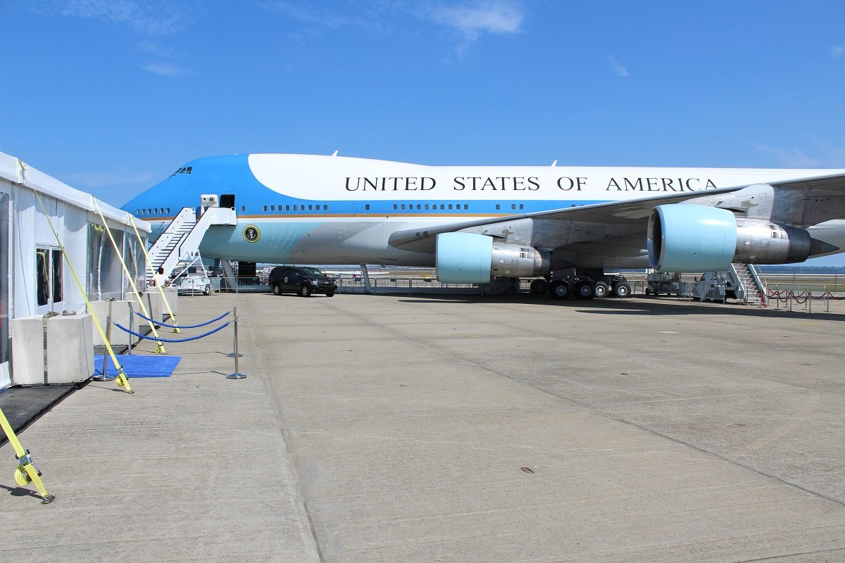 tour the new air force one replica for free rhode island. Black Bedroom Furniture Sets. Home Design Ideas