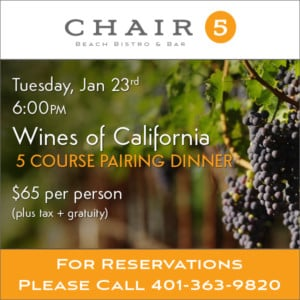 Wines of California 5 Course Pairing Dinner at Chair 5 @ Chair 5 | Narragansett | Rhode Island | United States