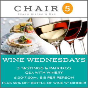 Wine Wednesday @ Chair 5 |  |  |