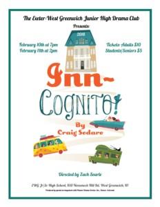 Inn-Cognito! Presented by EWG Drama @ Exeter-West Greenwich Jr/Sr High School | West Greenwich | Rhode Island | United States