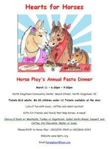 Horse Play's Annual Pasta Dinner @ Horse Play Rescue and Sanctuary | North Kingstown | Rhode Island | United States