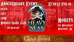 Heavy Seas Anniversary Ales Tap Takeover at Norey's @ Norey's | Newport | Rhode Island | United States