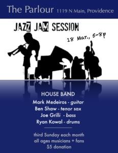 Parlour Jazz Jam - Medeiros & Friends @ The Parlour | Providence | Rhode Island | United States