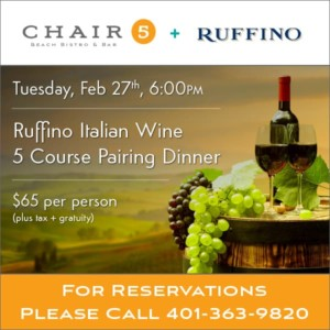 Monthly Wine Dinner @ Chair 5 | Narragansett | Rhode Island | United States