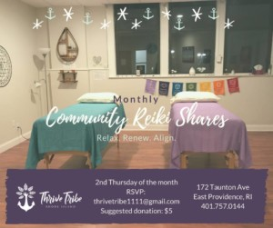 Community Reiki Share @ Thrive Tribe RI | East Providence | Rhode Island | United States