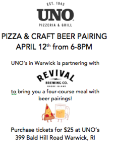 Pizza & Craft Beer Pairing Event @ UNO's Warwick | Warwick | Rhode Island | United States