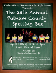 EWG Sr High Drama Club Presents: The 25th Annual Putnam County Spelling Bee @ Exeter-West Greenwich Jr/Sr High School | West Greenwich | Rhode Island | United States