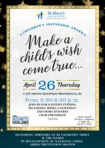 Children's Friendship Award @ Cafe Nuovo | Providence | Rhode Island | United States
