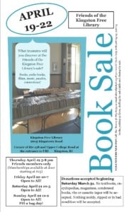 Friends of the Kingston Free Library Book Sale @ Kingston Free Library | South Kingstown | Rhode Island | United States