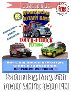 Woonsocket Rotary Touch-A-Truck @ Our Lady Queen of Martyrs Parish Grounds