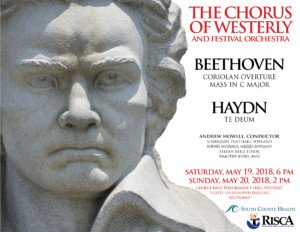 Chorus of Westerly's Beethoven and Haydn Concert @ George Kent Performance Hall