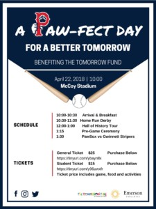 A Paw-Fect Day for a Better Tomorrow Benefiting the Tomorrow Fund @ McCoy Stadium