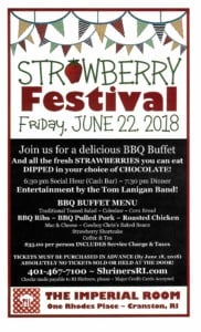 Strawberry Festival @ The Imperial Room at One Rhodes Place