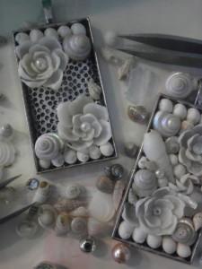 Sailors Valentine (Shell Art) Jewelry Demonstration @ Mystic Scrimshanders