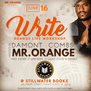 Workshop, Reading and Booksigning with Poet Damont Combs @ Stillwater Books