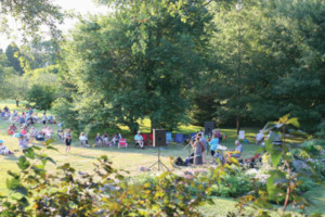 Music at Sunset: Panoramic View: Steel Drums @ Blithewold Mansion, Gardens, and Arboretum