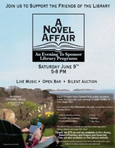 A Novel Affair: An Evening to Support Library Programs @ Channel Bells