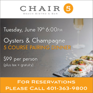 Five Course Oyster and Champagne Pairing Dinner @ Chair 5 at The Break Hotel