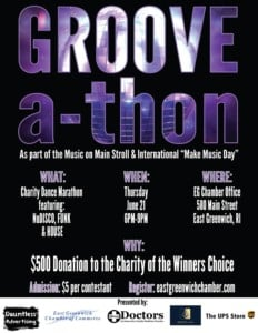 """Groove-a-thon"" Charity Dance Marathon @ East Greenwich Chamber of Commerce"