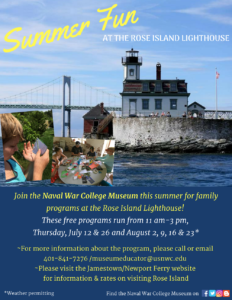 STEAM Programs at the Rose Island Lighthouse @ Rose Island Lighthouse