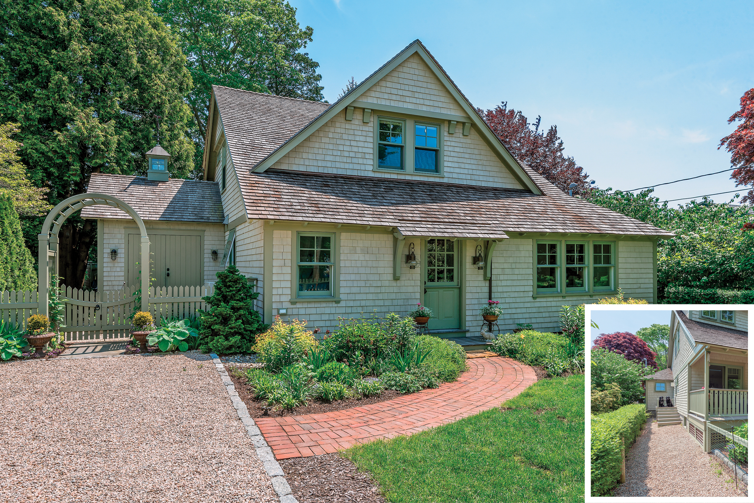 Jamestown, cottage, decor, exterior